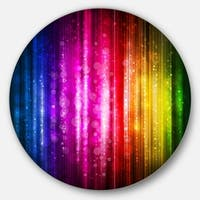 Designart 'Glowing Background' Abstract Glossy Metal Wall Art