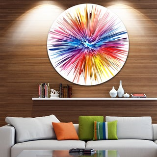 Designart 'Color Explosion' Abstract Glossy Metal Wall Art
