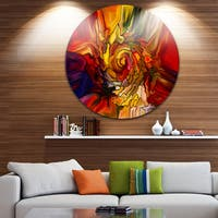 Designart 'Illusions Of Stained Glass' Abstract Glossy Metal Wall Art