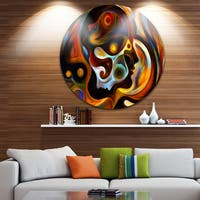 Designart 'Perspectives Of Inner Paint' Abstract Glossy Metal Wall Art