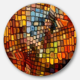 Designart 'Dreaming Of Stained Glass' Abstract Glossy Metal Wall Art (4 options available)