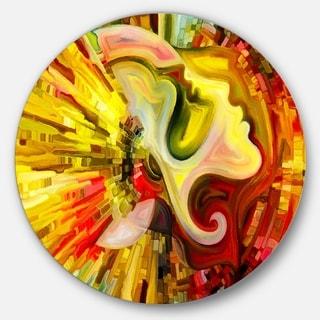 Designart 'Beyond Inner Paint' Abstract Glossy Metal Wall Art