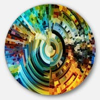 Designart 'Paths Of Stained Glass' Abstract Glossy Metal Wall Art