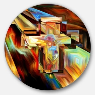 Designart 'Light Of The Cross' Abstract Glossy Metal Wall Art