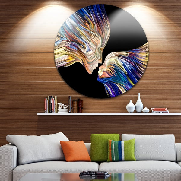 Shop Designart \'Metaphorical Mind Painting\' Sensual Glossy Circle ...
