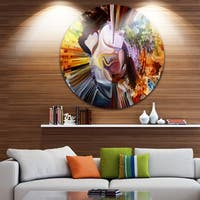 Designart 'Layers Of Inner Paint' Abstract Glossy Metal Wall Art