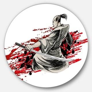 Designart 'Japan Warrior' Japanese Glossy Metal Wall Art