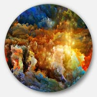 Designart 'What Colors May Come' Abstract Glossy Metal Wall Art