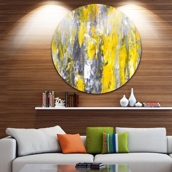 shop designart grey and yellow abstract pattern abstract glossy