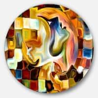 Designart 'Way of Inner Paint' Abstract Glossy Metal Wall Art