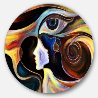 Designart 'Colorful Intuition' Abstract Glossy Metal Wall Art