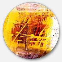 Designart 'Abstract Buddha Art' Abstract Glossy Metal Wall Art