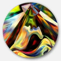 Designart 'Origin of Imagination' Abstract Glossy Metal Wall Art