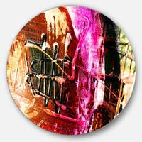 Designart 'Structure Abstract Art' Abstract Glossy Metal Wall Art