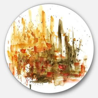 Designart 'Abstract Composition Art' Abstract Glossy Metal Wall Art