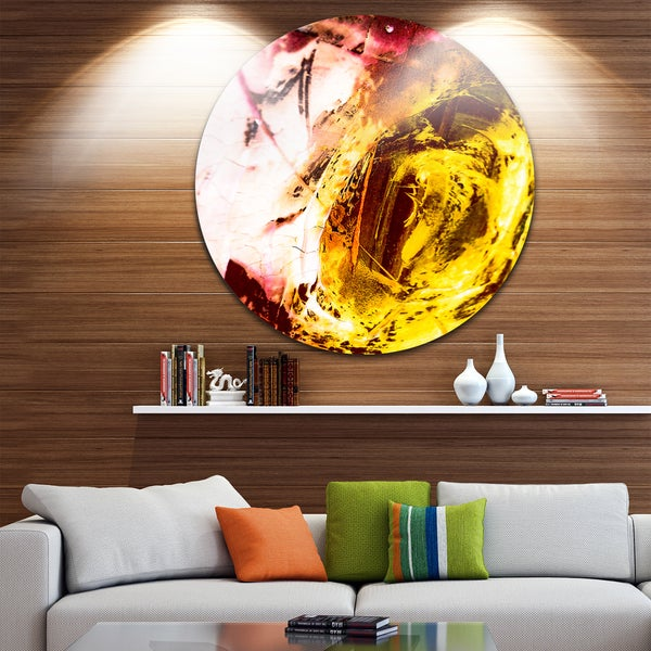 Designart 'Abstract Modern Structure Art' Abstract Glossy Metal Wall Art