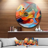 Designart 'Music and Rhythm' Abstract Glossy Metal Wall Art