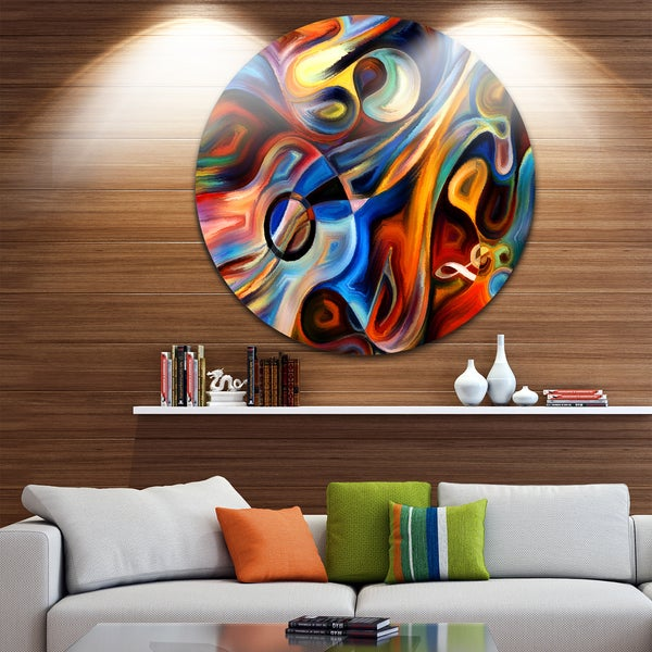 Designart U0026#x27;Abstract Music And Rhythmu0026#x27; Abstract Glossy Circle Metal