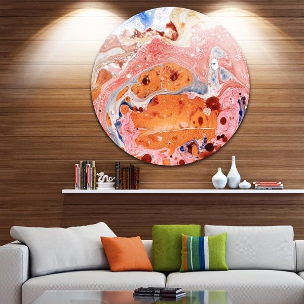 Designart 'Rose Abstract Fusion' Abstract Glossy Metal Wall Art