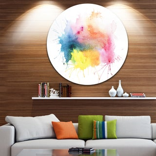 Designart 'Abstract Blots Aquarelle Art' Abstract Glossy Metal Wall Art