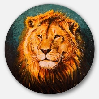Designart 'The Lion of Judah' Animal Glossy Metal Wall Art