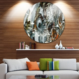 Designart 'Contemporary Abstract Design' Abstract Glossy Large Disk Metal Wall Art