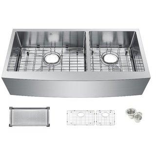 Starstar Stainless Steel 35-inch Undermount Double-bowl Kitchen Sink