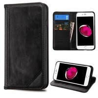 Insten Black Leather Case Cover with Stand/ Wallet Flap Pouch For Apple iPhone 7 Plus