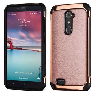 Insten Leather TPU Dual Layer Hybrid Case Cover For ZTE Zmax Pro