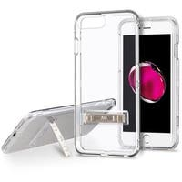Insten Clear Hard PC/ Silicone Dual Layer Hybrid Crystal Case Cover with Stand For Apple iPhone 6 Plus/ 6s Plus/ 7 Plus