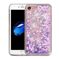 Insten Hearts Quicksand Hard Snap-on Glitter Case Cover For Apple iPhone 7