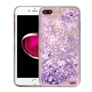 Insten Hearts Quicksand Hard Snap-on Glitter Case Cover For Apple iPhone 7 Plus