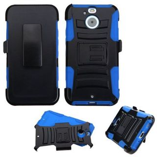 Insten Hard PC/ Silicone Dual Layer Hybrid Case Cover with Holster For HTC Bolt