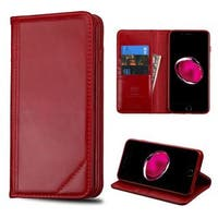 Insten Red Leather Case Cover with Stand/ Wallet Flap Pouch For Apple iPhone 7 Plus
