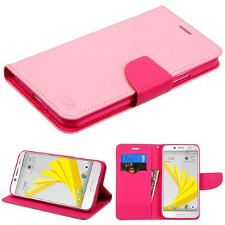 Insten Pink Leather Case Cover with Stand/ Wallet Flap Pouch For HTC Bolt