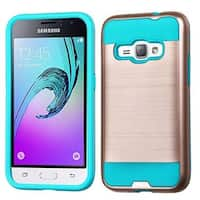 Insten Rose/ Teal Hard Snap-on Dual Layer Hybrid Case Cover For Samsung Galaxy Amp 2/ Express 3/ J1(2016)