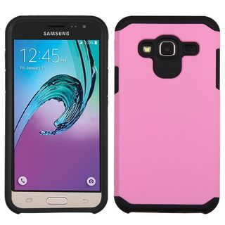 Insten Pink/ Black Hard PC/ Silicone Dual Layer Hybrid Case Cover For Samsung Galaxy Amp Prime/ Express Prime / Sky/ Sol