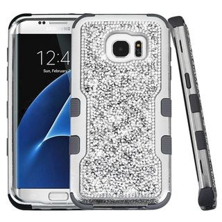 Insten Hard PC/ Silicone Dual Layer Hybrid Diamond Bling Case Cover For Samsung Galaxy S7 Edge