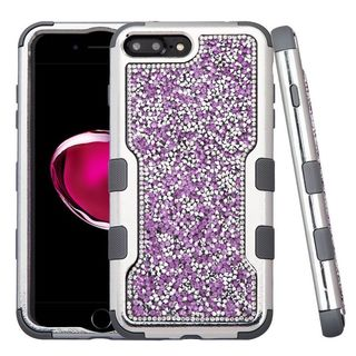 Insten Hard PC/ Silicone Dual Layer Hybrid Diamond Bling Case Cover For Apple iPhone 7 Plus