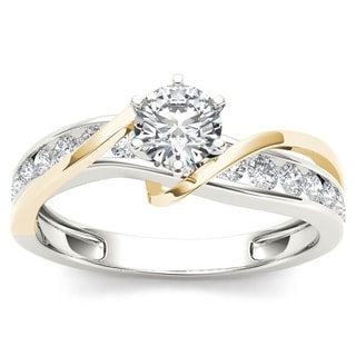 Link to De Couer 14k Yellow Two Tone White Gold 3/4 ct TDW Diamond Engagement Ring Similar Items in Wedding Rings