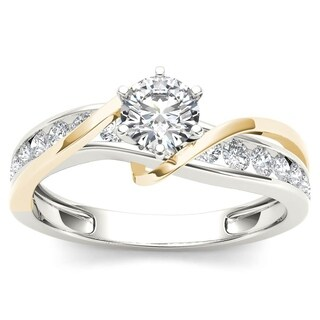 De Couer 14k Yellow Two Tone White Gold 3/4 ct TDW Diamond Engagement Ring (More options available)