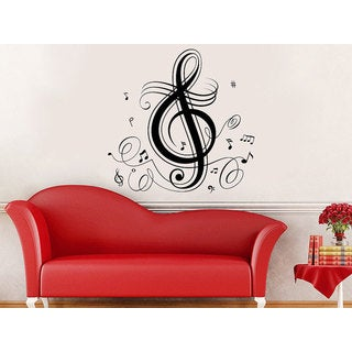 3 Sizes, 12 Colors G CLEF HEART MUSIC NOTE Vinyl Decal