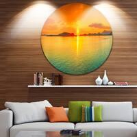 Designart 'Sunset Panorama' Photography Aluminum Circle Wall Art