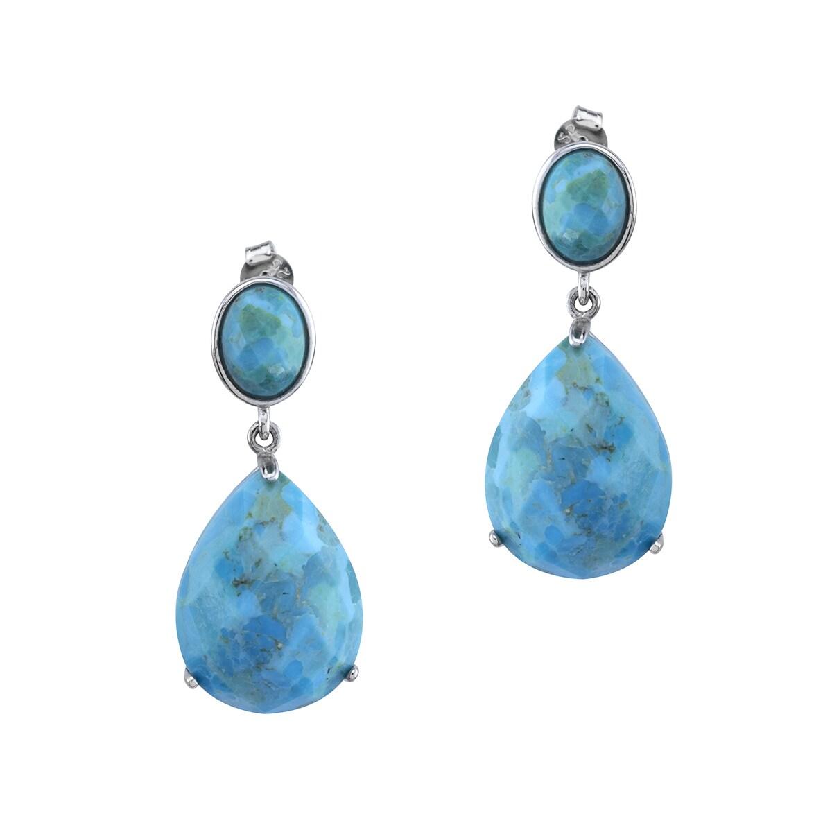 Matrix Pangea Mines 20x15mm Turquoise Drop Earrings, Wome...