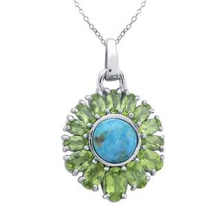 Pangea Mines Turquoise & Peridot Pendant