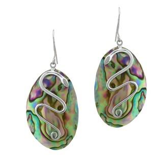 Pangea Mines Abalone Snake Earrings