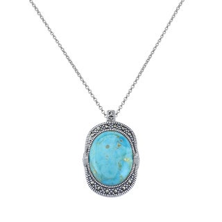 Pangea Mines 22x17mm Turquoise Pendant Necklace