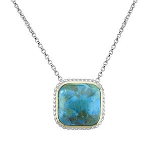 Pangea Mines Turquoise Framed Pendant Necklace