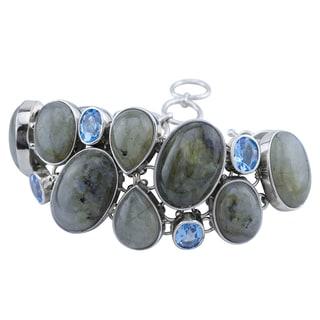 Pangea Mines Labradorite & Blue Topaz Bracelet