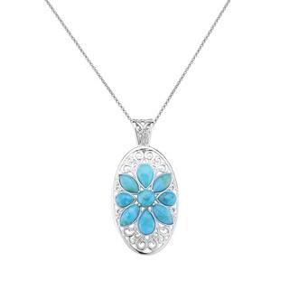 Pangea Mines Turquoise Floral Enhancer Pendant